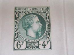 MONACO 1948 ÉPREUVE D'ARTISTE JOURNÉE DU TIMBRE ETAT IMPECCABLE - Monaco