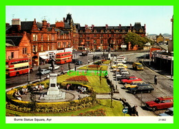 AYR, SCOTLAND - BURNS STATUE SQUARE - WELL ANIMATED WITH OLD CARS & BUSSES - CHARLES SKILTON'S - - Ayrshire