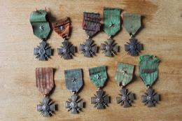 10 Croix De Guerre Divers Dates  POILUS  Guerre 1914 1918 - 1914-18