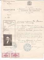 Passeport Juillet à Aout 1936 Espagne Consulat Nantes Frontière De Canfranc - Documents Historiques