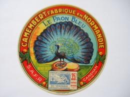 A-76172 - Etiquette De Fromage Camembert LE PAON BLEU - SAFR CANEHAN - Seine-Maritime - Signée Bouckilioen - Cheese