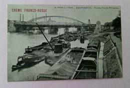 75 - PARIS - Berges De La Seine - Quai D'Austerlitz - Nouveau Pont Métropolitain,  (Publicité Crème Franco-Russe Au Dos) - France