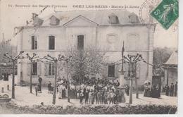 CPA Ogeu-les-Bains - Mairie Et école (très Belle Animation) - Autres Communes