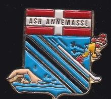 64847 -Pin's- A-S-H. Annemasse.ski.Natation. - Natation
