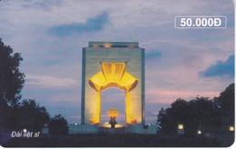 TARJETA CON CHIP DE VIETNAM DE UN MONUMENTO 50000 D - Vietnam