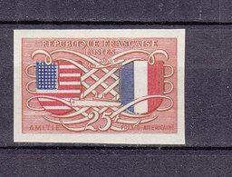FRANCE 840 AMITIE FRANCO AMERICAINE ESSAI DE COULEUR LUXE NEUF SANS CHARNIERE - Proofs