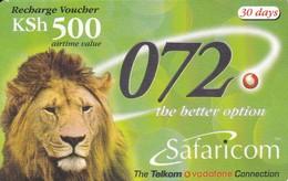 TARJETA DE KENIA DE UN LEON (LION) 2003/06/30 - Kenia