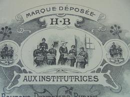 FACTURE - 02 - DEPARTEMENT DE L'AISNE - OULCHY LE CHATEAU 1903 - SOIES A COUDRE : H. BUNOUT - BELLE ILLUSTRATION - Frankrijk