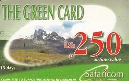 TARJETA DE KENIA DE GREEN CARD DE KSH 250 PAISAJE DATE 2003/06/30 - Kenya