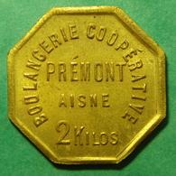 02 - Aisne - Prémont - Boulangerie Coopérative - 2 Kilos - Laiton - Monetari / Di Necessità