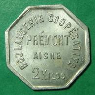 02 - Aisne - Prémont - Boulangerie Coopérative - 2 Kilos - Aluminium - Monetari / Di Necessità
