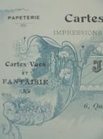 FACTURE - 02 - DEPARTEMENT DE L'AISNE - CHATEAU THIERRY 1912 - CARTES POSTALES : J. BOURGOGNE - BELLE DECO ART NOUVEAU - Frankrijk