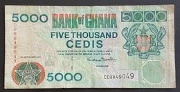EM0505 - Ghana 5000 Cedis Banknote 2001 #CD8849049 - Ghana