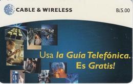 TARJETA DE PANAMA DE CABLE & WIRELESS DE B/5.00 USA LA GUIA TELEFONICA - Panama