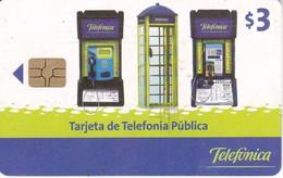 TARJETA DE ECUADOR DE TELEFONICA DE $3  DIFERENTES CABINAS - Ecuador