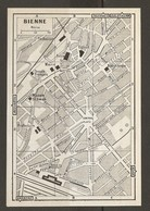 SUISSE CARTE PLAN 1958 BIENNE - SCHWEIZ KARTE 1958 BIENNE - SWITZERLAND MAP 1958 BIENNE - Topographical Maps