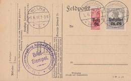 Postgebiet Ober-Ost Karte Mif Minr.1, 5 Halbierung Wilna 1.6.17 - Besetzungen 1914-18