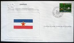 FDC World Championship  Soccer  Espana 82 -  Yugoslavia  -  Yougoslavie - 1982 – Espagne
