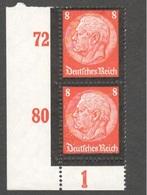 GERMANY1934:Michel551mnh** Margin Copy Pair Cat.value 50Euros($55) - Germany