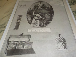 ANCIENNE PUBLICITE PARFUM DE LUXE DE  ARYS 1924 - Parfum & Kosmetik