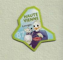 """Magnets. Magnets """"Le Gaulois"""" Départements Français. Haute Vienne (87) - Publicitaires"""