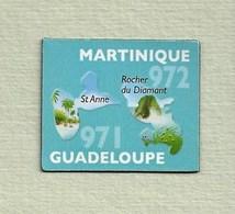 """Magnets. Magnets """"Le Gaulois"""" Départements Français. Guadeloupe (971) -Martinique (972) - Publicitaires"""