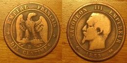 Napoléon III - 10 Centimes 1855D Ancre - D. 10 Centimes