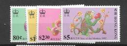 1992 MNH Hong Kong Mi 632-35 Postfris** - Neufs