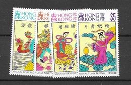 1994 MNH Hong Kong Mi 719-22 Postfris** - Hong Kong (...-1997)