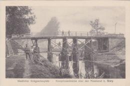 55 - SIVRY - BELLE CARTE ALLEMANDE - CANAL CONSTRUCTION PONT - BON A TB ETAT - France