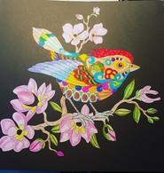Dessin Coloriage Oiseau Sur La Branche - Pasatiempos Creativos
