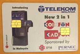 TELEKOM MALAYSIA RECTO AVEC 2 PUCES TWO CHIP PHONECARD TELECARTE CARD - Malaysia