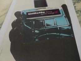 ANCIENNE PUBLICITE LOTION  APRES RASAGE  GILLETTE  1966 - Parfum & Kosmetik