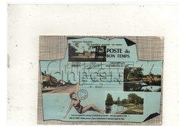 Dordives (45) : 5 Vues Sur Un Petit Bleu Ou Télégramme En 1964 (animé) GF. - Dordives