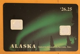 ALASKA CORPS DE CARTE AVEC 2 LOGEMENTS DE PUCE SANS PUCE PHONECARD TELECARTE CARD - Schweden