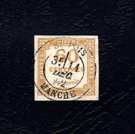 RARISSIME TB TAXE N°8 60c Jaune Oblitéré Avec Charnière - Postage Due