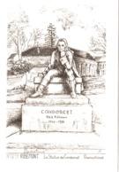 CPM 02 (Aisne) Ribemont - La Statue De Condorcet TBE Illustr. Yves DUCOURTIOUX - Other Municipalities