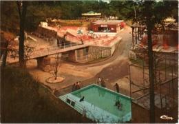 CPSM 02 (Aisne) Vendeuil - Fort De Vendeuil, RN 44, Parc Zoologique, Vue D'ensemble, Terrasse Et Jeux TBE - Altri Comuni