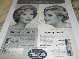 ANCIENNE PUBLICITE JOLIE COIFFURE QUI TIENT HELENE CURTIS   1960 - Perfumes & Belleza
