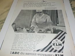 ANCIENNE PUBLICITE ABC KLM ROYAL DUTCH AIRLINES 1960 - Advertenties