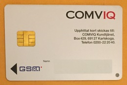 SUÈDE COMVIQ GSM CARTE SIM DUMMY TELE CARD PHONE CARD TELECARTE - Schweden