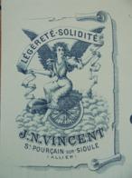 FACTURE - 03 - DEPARTEMENT DE L'ALLIER - ST POURCAIN SUR SIOULE -B VELOCIPEDES  : J.M. VINCENT - VOIR DETAIL ET SCAN - Non Classificati