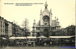 BE - Bruxelles - Eglise Sainte-Catherine, Place Saint-Catherine - Markten