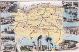ALGERIE - CONSTANTINE - PHILIPPEVILLE - CARTE GEOGRAPHIQUE  DES VILLES CONSTANTINOIS - Non Classificati
