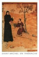 CPM 02 (Aisne) Saint-Michel-en-Thiérache - Abbaye. Galerie Nord Du Cloître, Fresques Du XVIe TBE - Otros Municipios