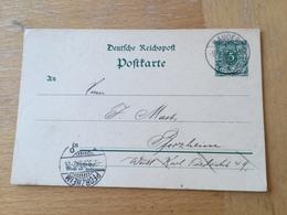 K3 Deutsches Reich Ganzsache Stationery Entier Postal P 36I Von Kauder Nach Pforzheim - Germania