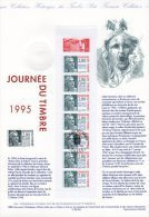 """"""" CARNET JDT 1995  50 ANS DE LA MARIANNE DE GANDON  """" Sur Document Philatélique Officiel De 1995 N° YT BC2935. DPO - Documents Of Postal Services"""