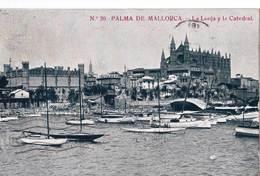 CPA   Palma De Mallorca  (Espagne)  La Lonja Y La Catedral      Ed  ??? N° 20 - Palma De Mallorca