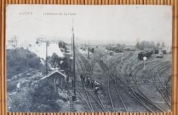 Gouvy,  Interieur De La Gare, Stempel Landsturm Batl. Celle 3. Kompanie, Bahnpoststempel - Gouvy