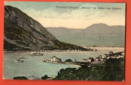 TSU-35 Kotor  Cattaro Ship Meteor. Used To Switzerland, Stamp Missing. Glarus 1912 - Montenegro